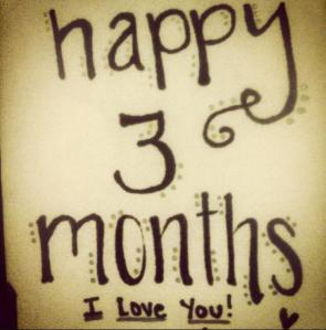 Happy 3 Months note